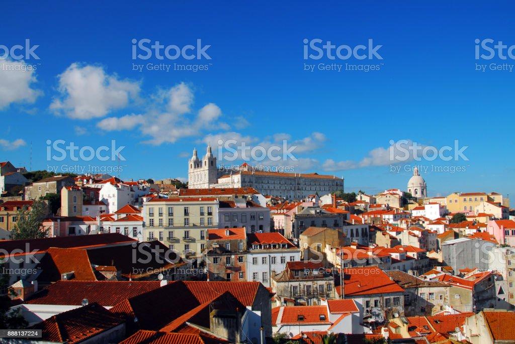 Alfama, Lisbon, Portugal - Church of São Vicente de Fora (Royal Pantheon) stock photo