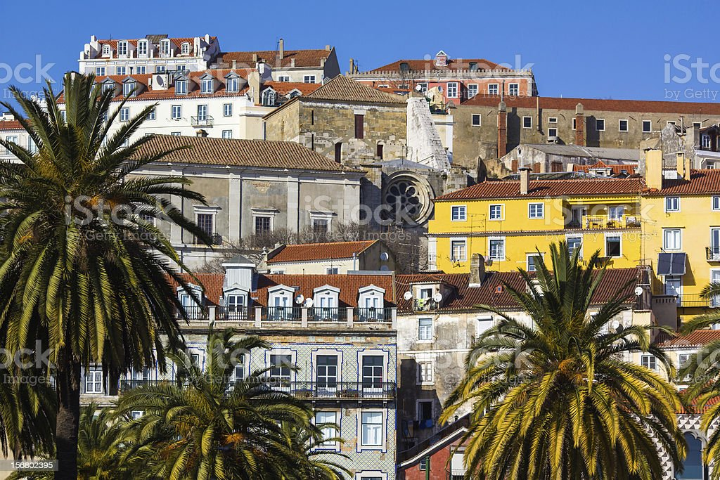 Alfama - the old town of Lisbon, Portugal stock photo