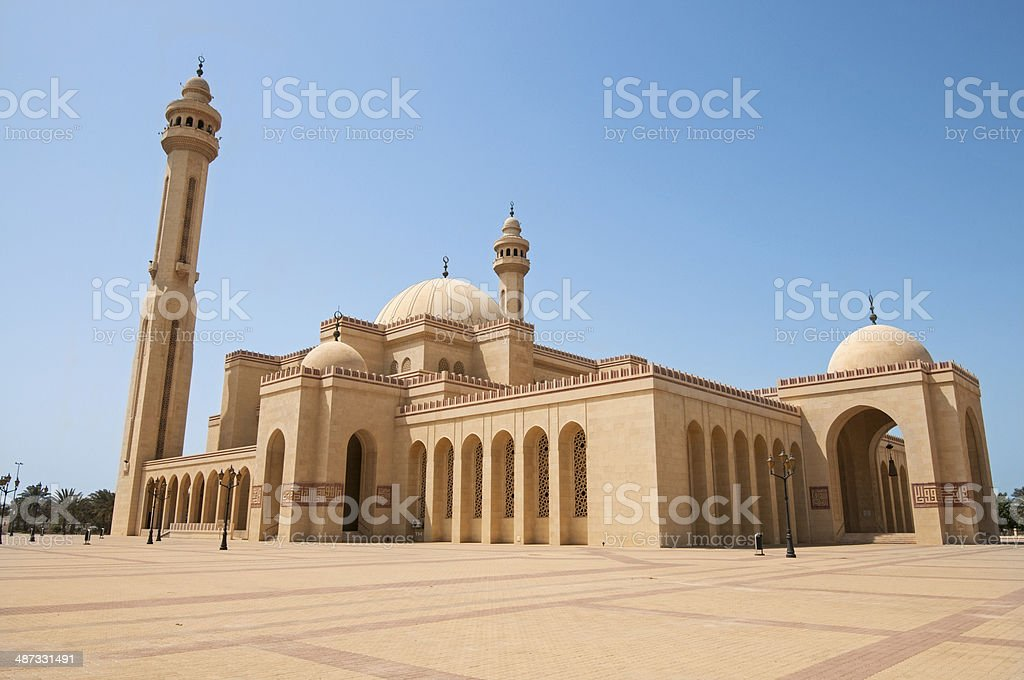 Al-Fateh Grand Mosque in Bahrain stock photo