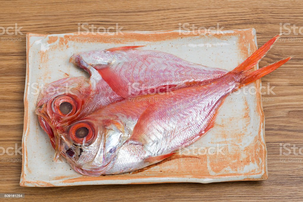 Alfonsin of dried fish stock photo
