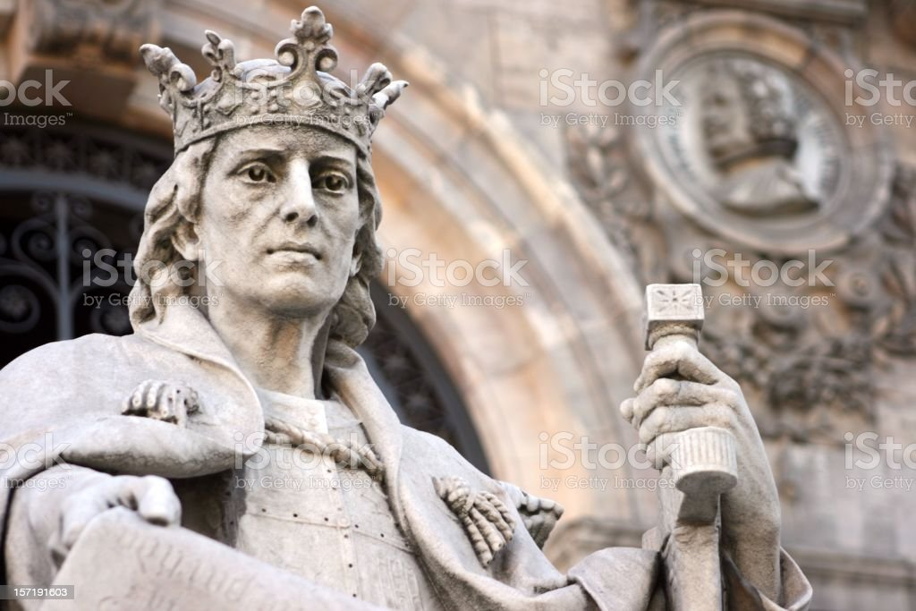 Alfonso X, the wise king stock photo