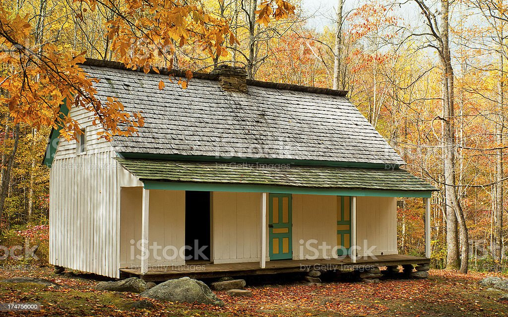 Alfred Reagan Place, Roaring Fork, Great Smoky Mountains, Gatlinburg, Tennessee stock photo