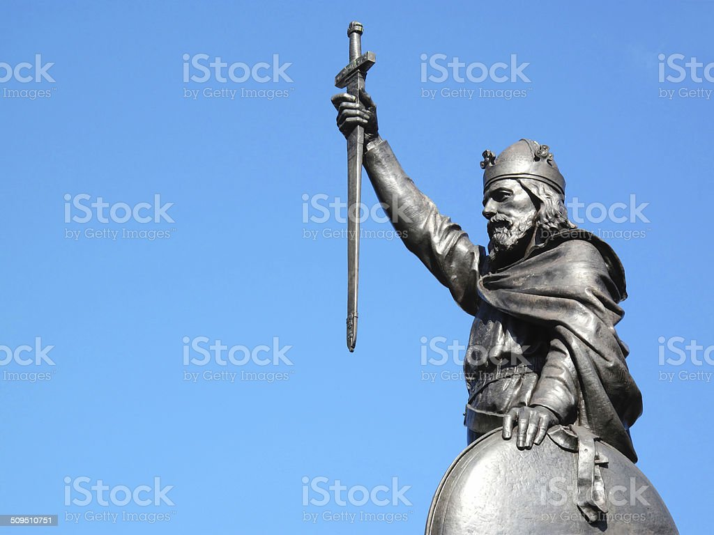 Alfred The Great stock photo