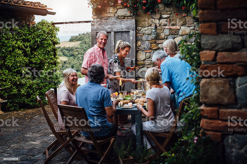 Alfresco Dining stock photo