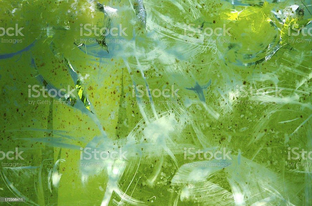 Algae Growth on Fish Tank stock photo