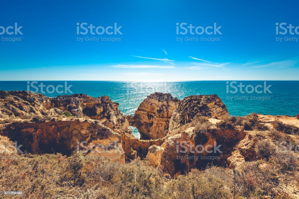 algarce coastline near lagos stock photo