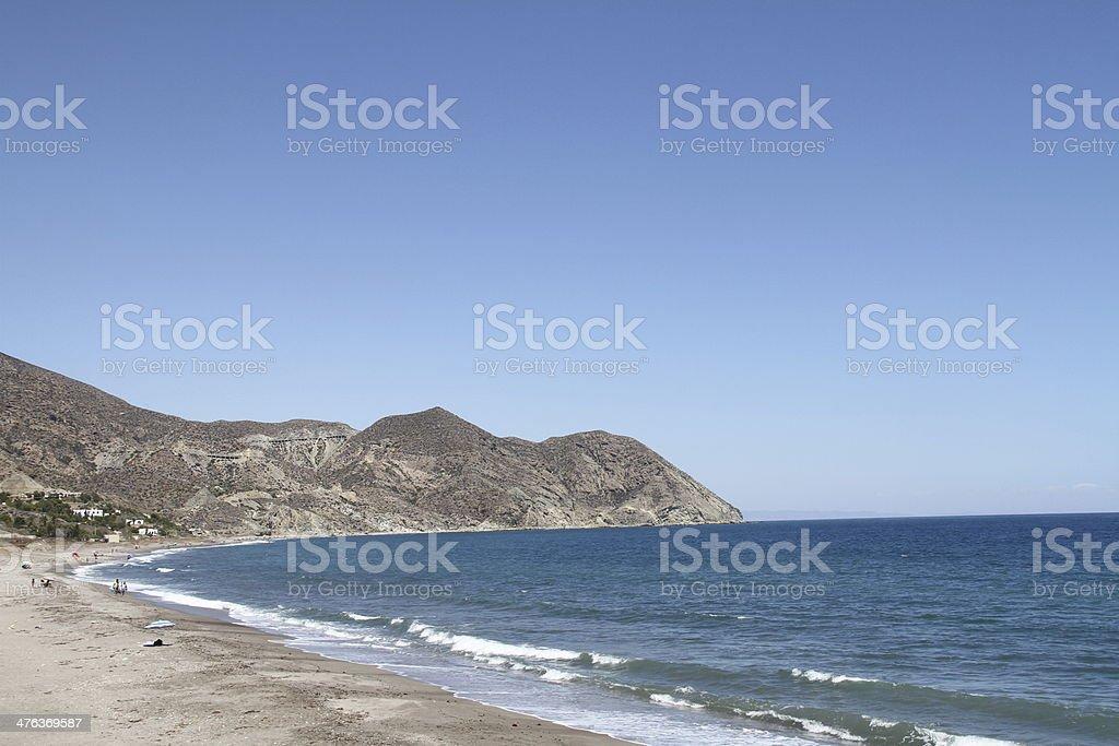 Algarrobico beach stock photo