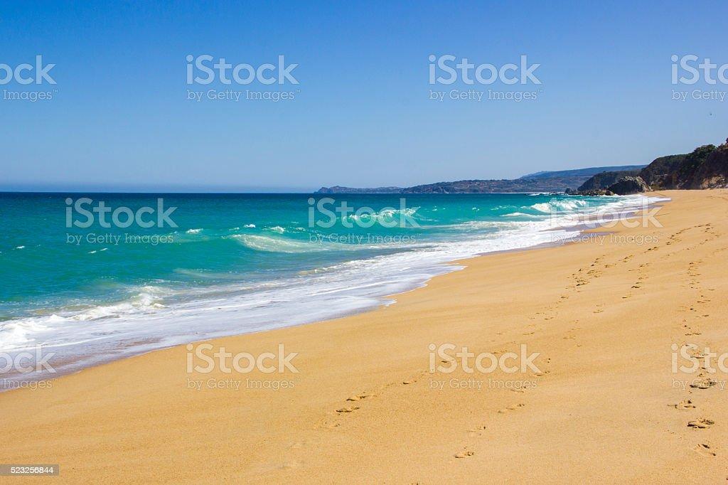 Algarrobo beach in Chile, South America stock photo
