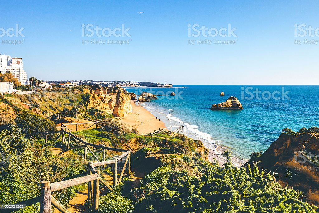 Algarve beaches. stock photo