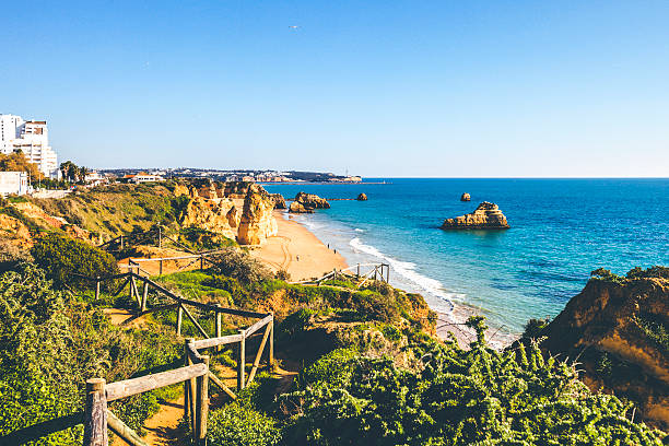 Algarve playas. - foto de stock