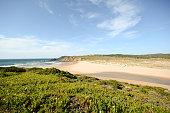 Algarve: View to beach Praia da Amoreira, Aljezur Portugal
