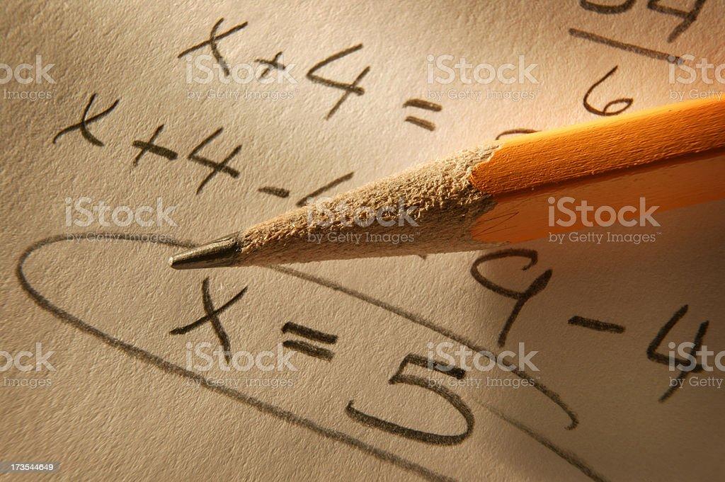 Algebra 1 stock photo