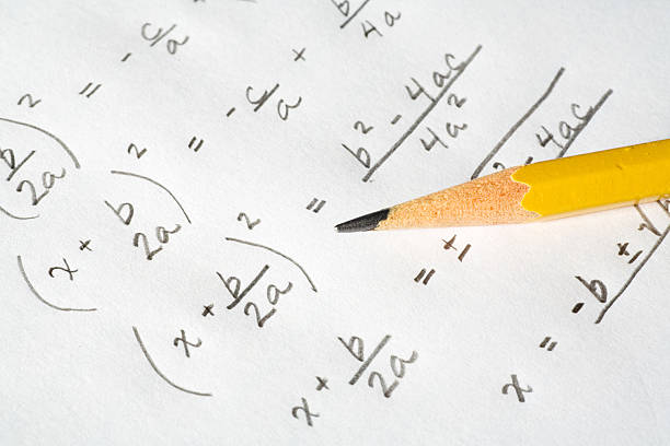 Algebra Equations stock photo