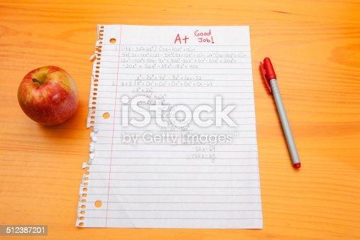 istock Algebra Homework Graded  A+ 512387201