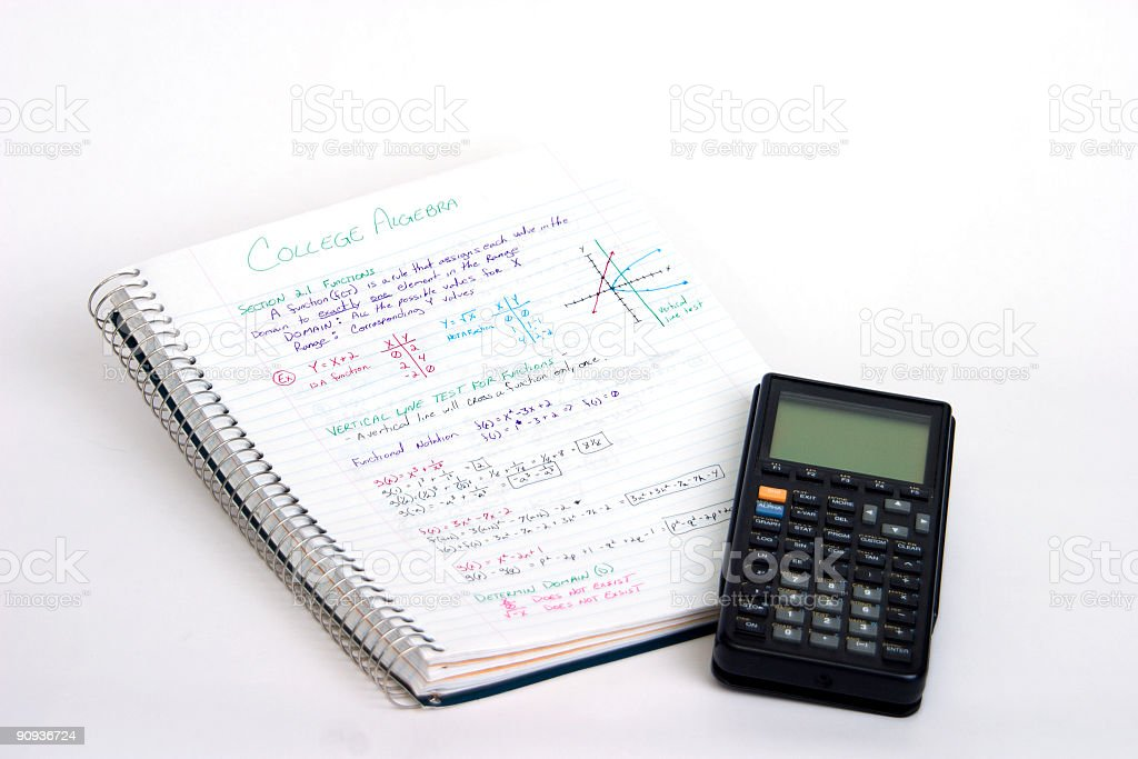 Algebra stock photo