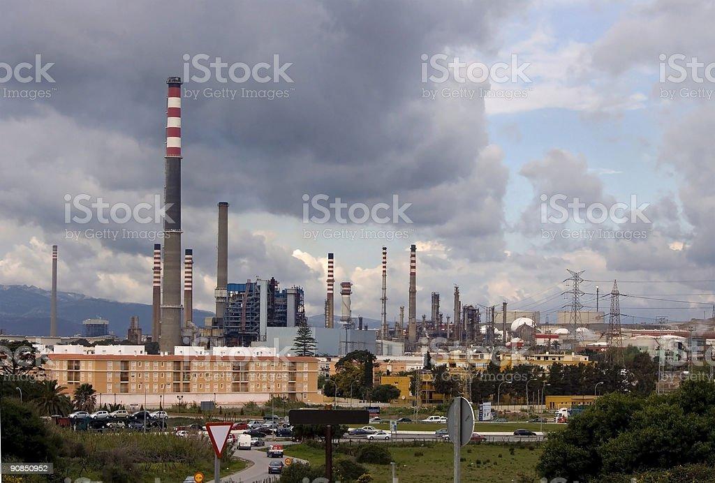 Algeciras Pollution 1 royalty-free stock photo