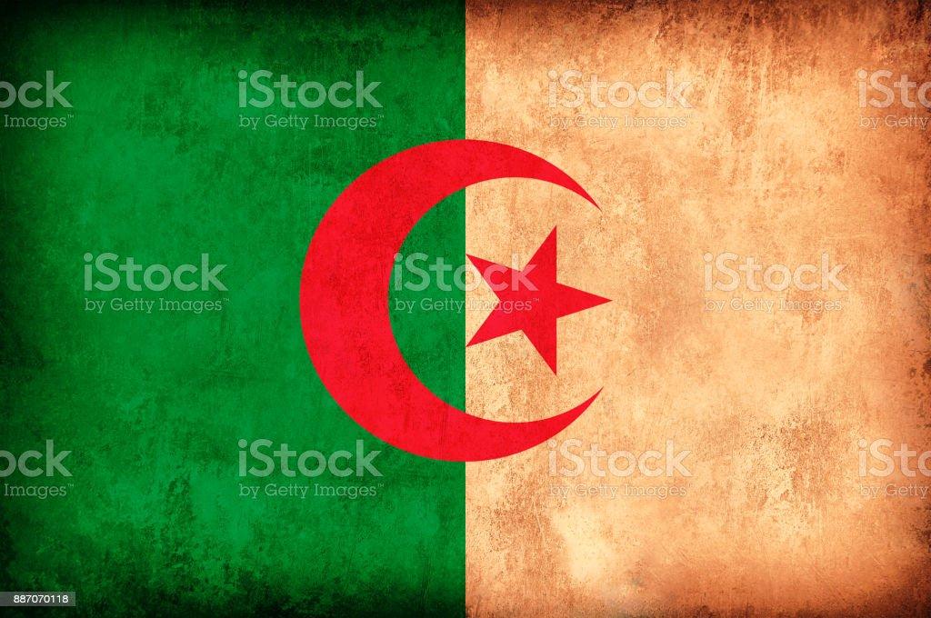 Algérie drapeau de Grunge - Photo