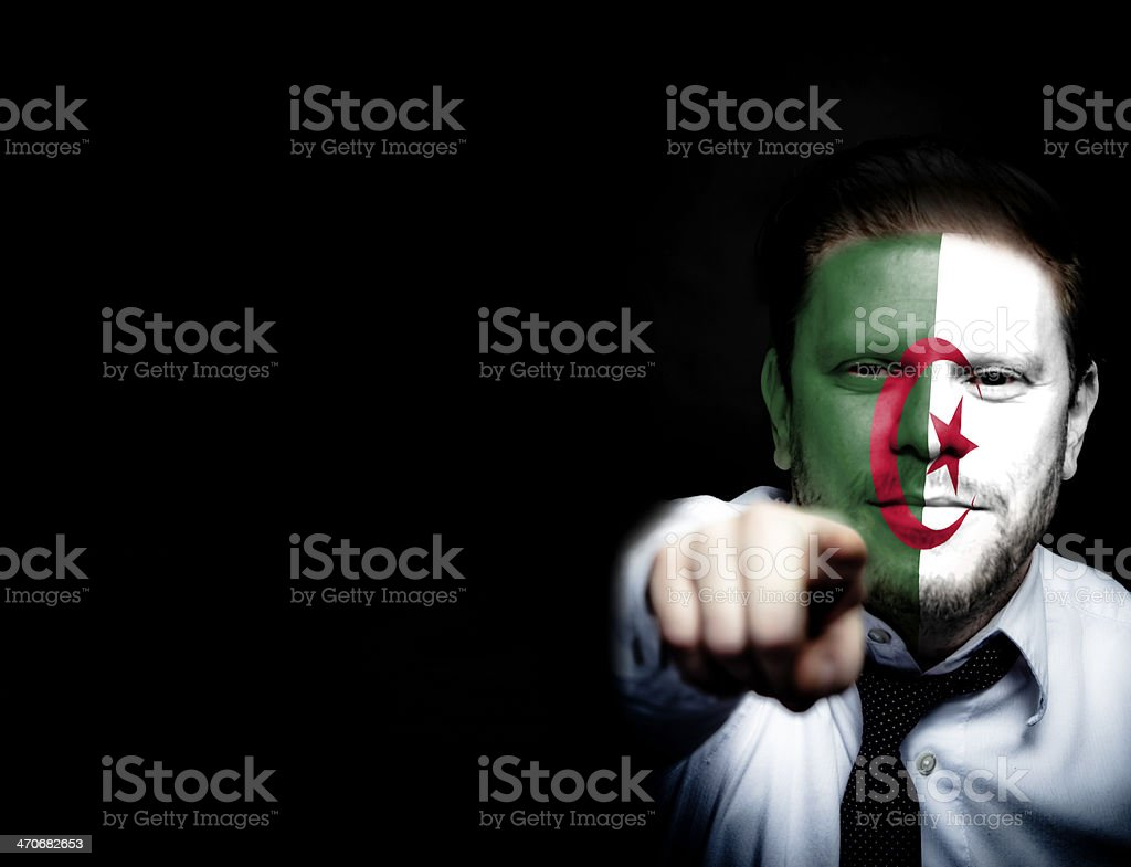 Algeria Soccer Fan royalty-free stock photo