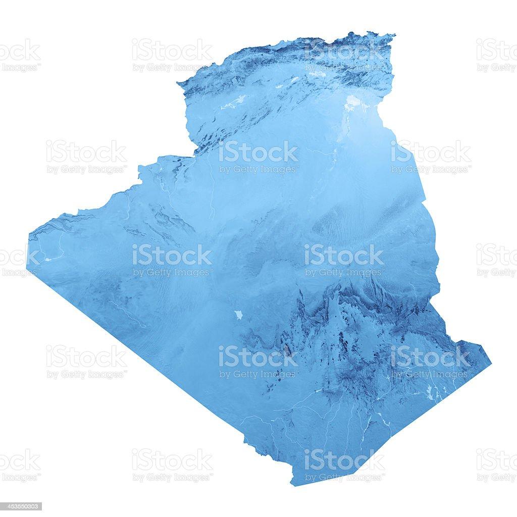 Algérie carte topographique isolé - Photo