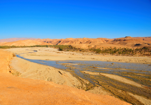 Hoggar rocks in the Algeria
