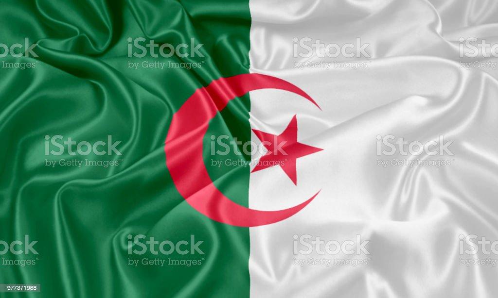 Fondo de bandera Argelia - foto de stock