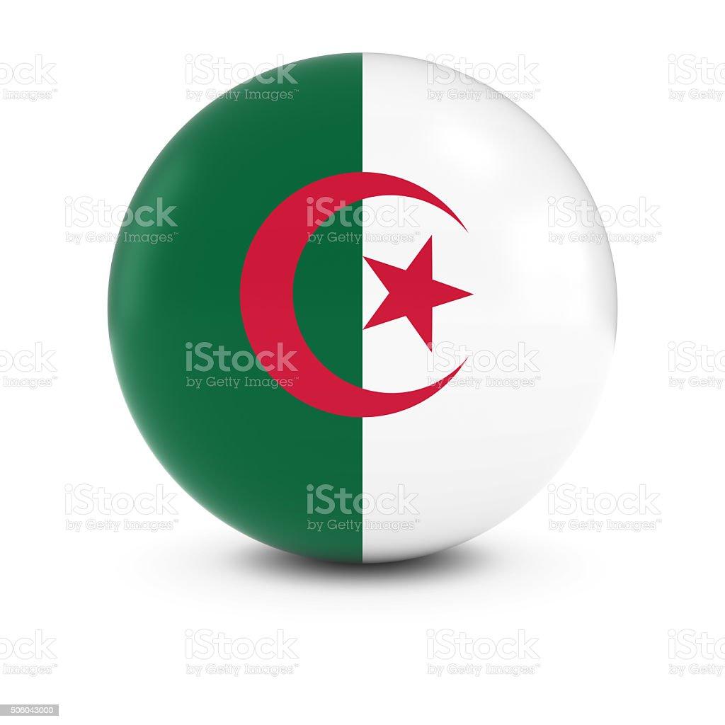 Bandera argelina Ball-bandera de Argelia en materia de aislamiento - foto de stock