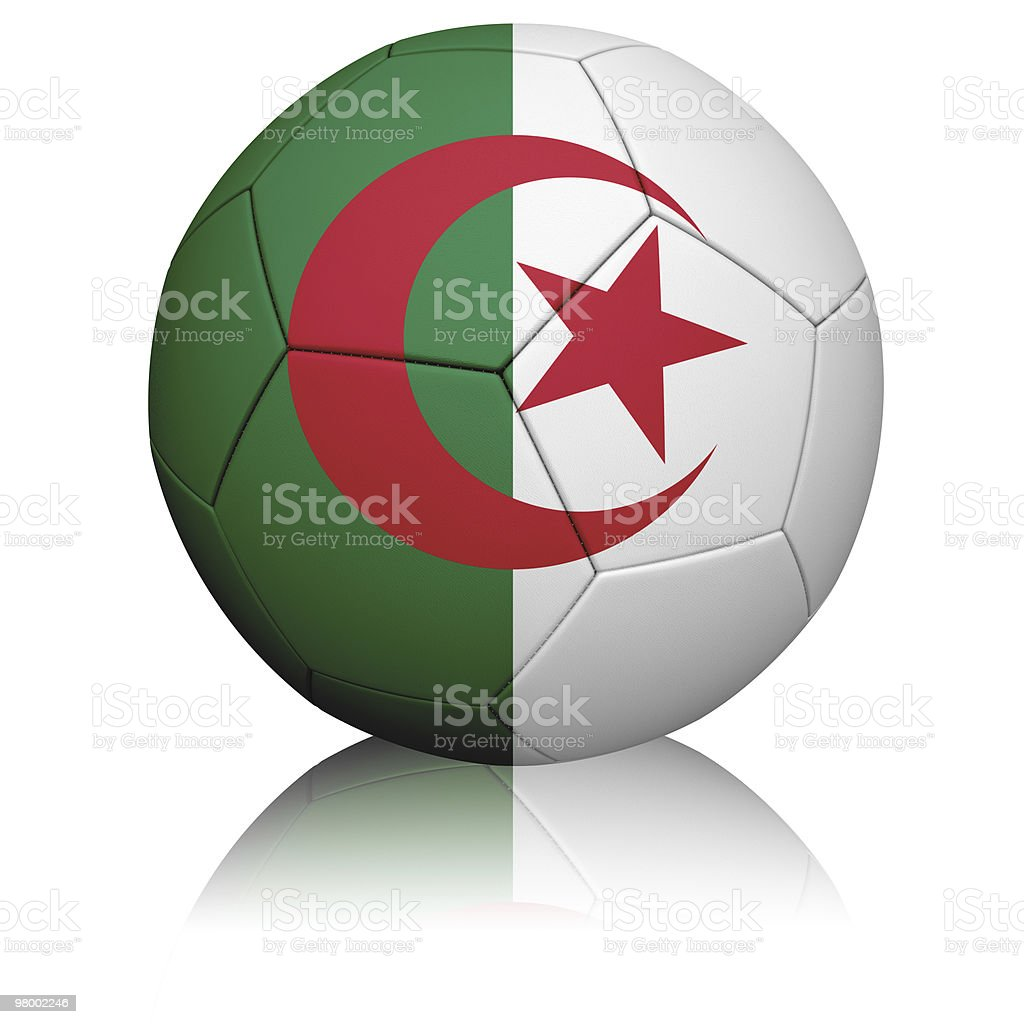 Algerian Flag Football royalty-free stock photo
