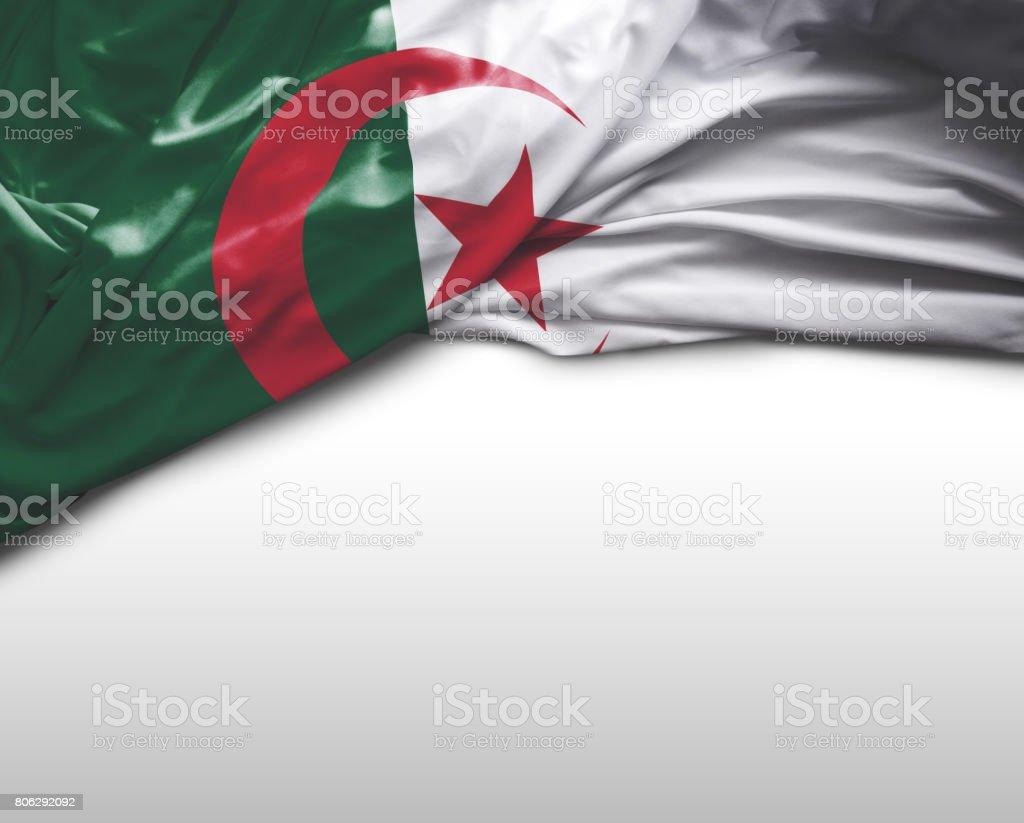 Bandera que agita argelino - foto de stock