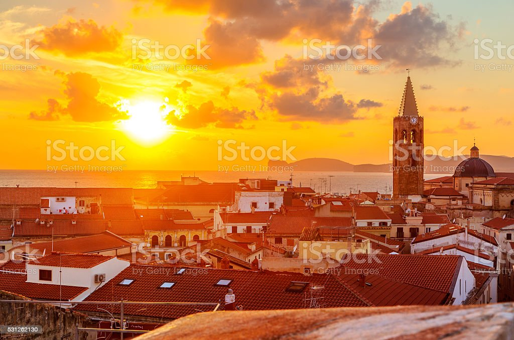Alghero city, Sardinia stock photo