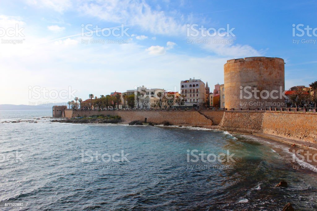 Alghero in springtime stock photo