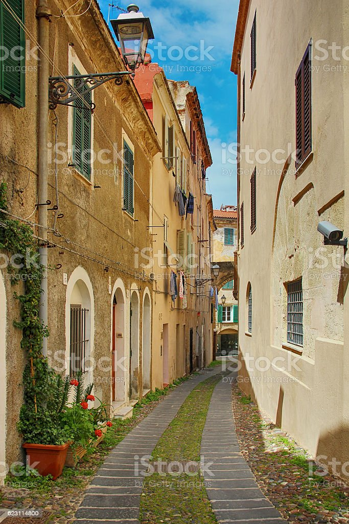 Alghero old town, Sardinia, Italy - foto de stock