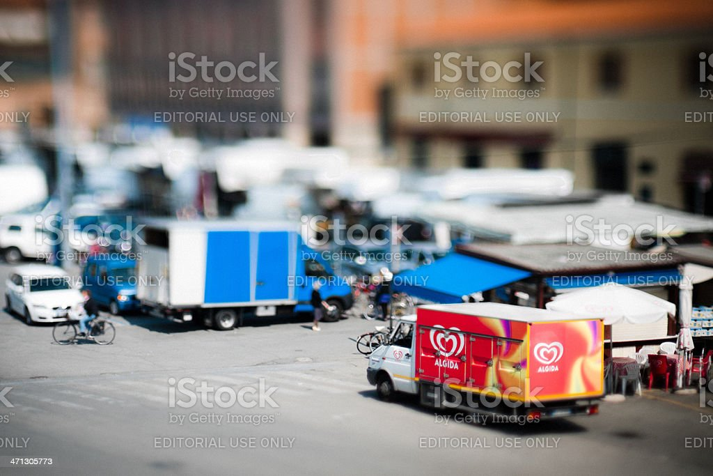 Algida Truck parked in a city street stock photo
