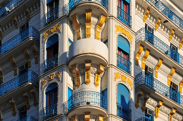 algiers, algeria: french colonial architecture - algeria stock photos and pictures