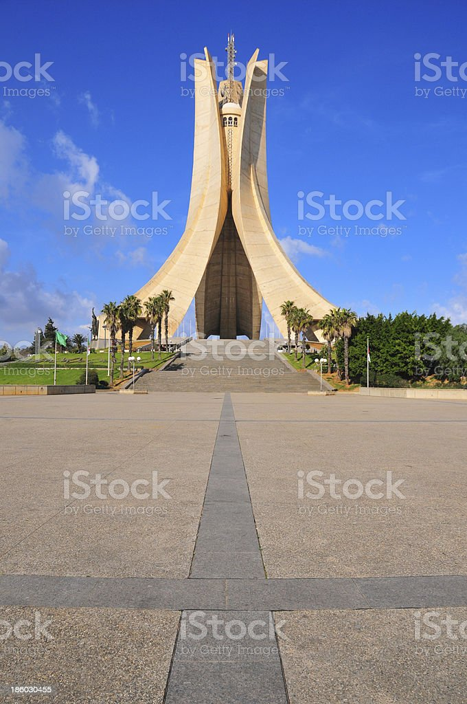 Argel, Argelia-Monumento a los mártires - foto de stock