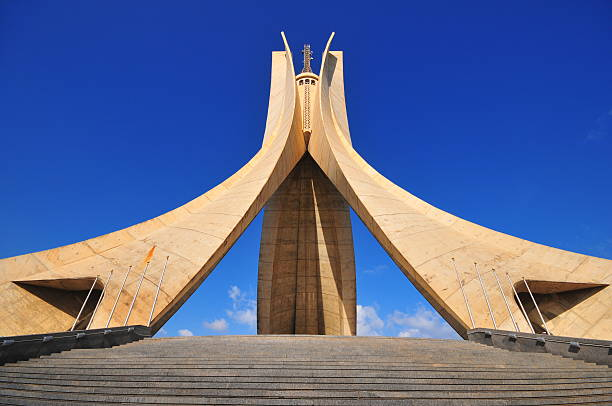 algiers, algeria: monument of the martyrs, algerian independence war - algeria stock photos and pictures