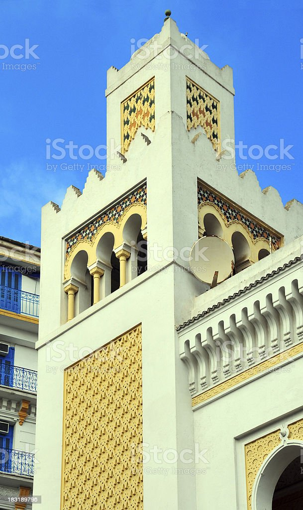 Algiers, Algeria: moorish colonial architecture royalty-free stock photo