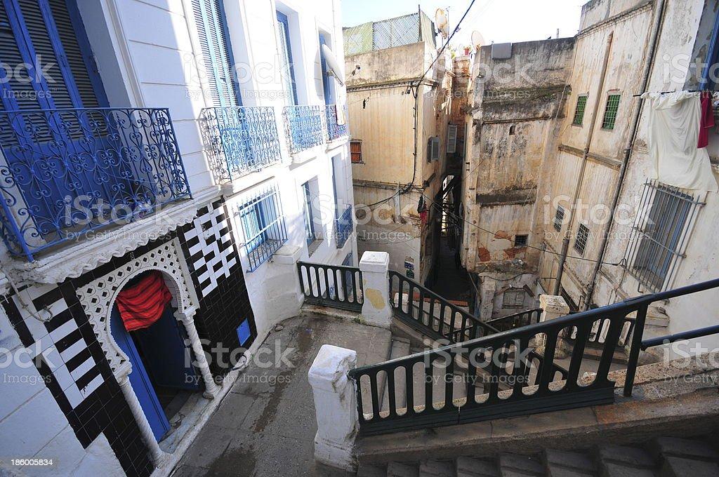Algiers, Algeria: stairs - Kasbah stock photo