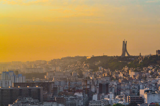 algiers sunrise - algeria stock photos and pictures