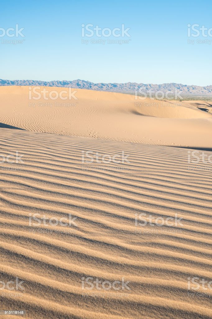 Algodones Dunes during Sunset stock photo