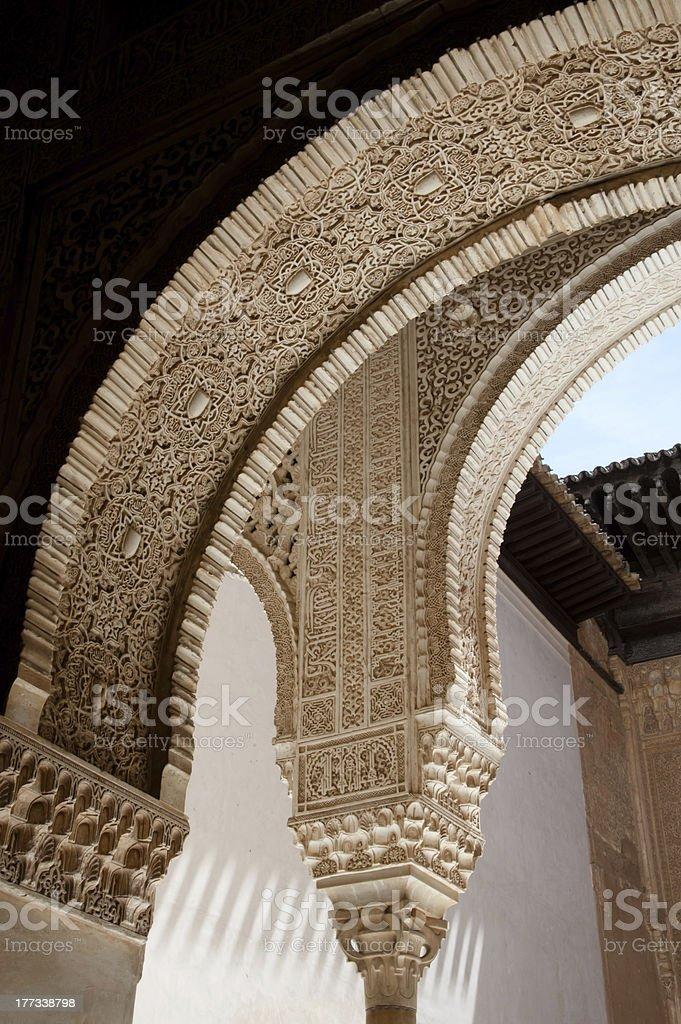Alhambra arches stock photo
