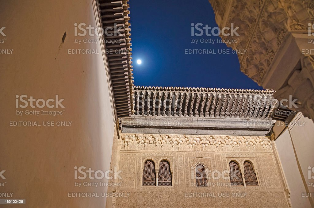 Alhambra by night stock photo