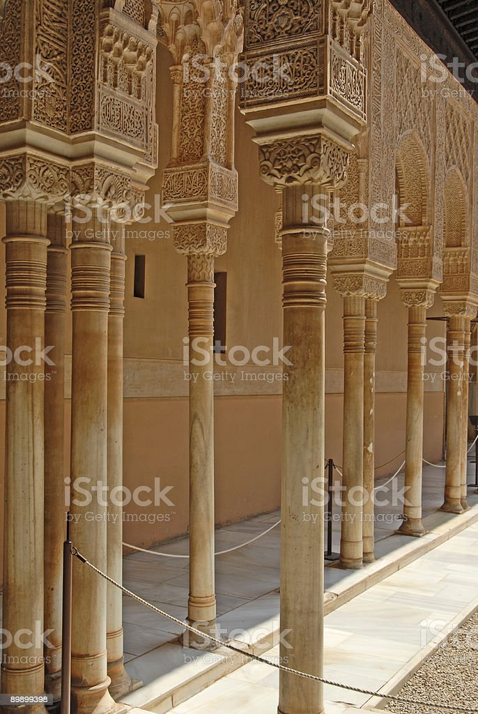 Alhambra colonne foto stock royalty-free