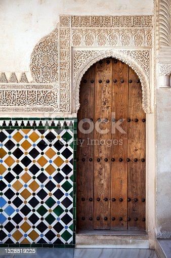 istock Alhambra door detail 1328819225