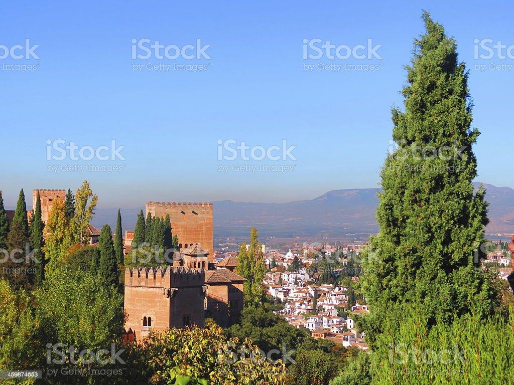 Alhambra gardens stock photo