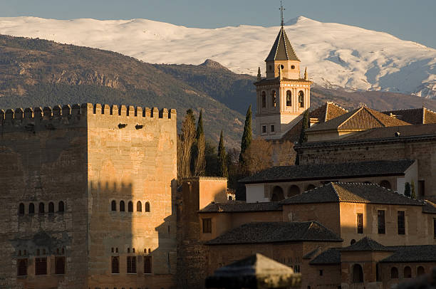 Alhambra, Granada  palace of charles v stock pictures, royalty-free photos & images