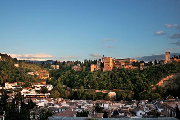 Alhambra in Granada at twilight SERIES. The 7 New Wonders