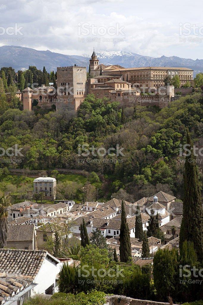 Alhambra in Granada Spain royalty-free stock photo