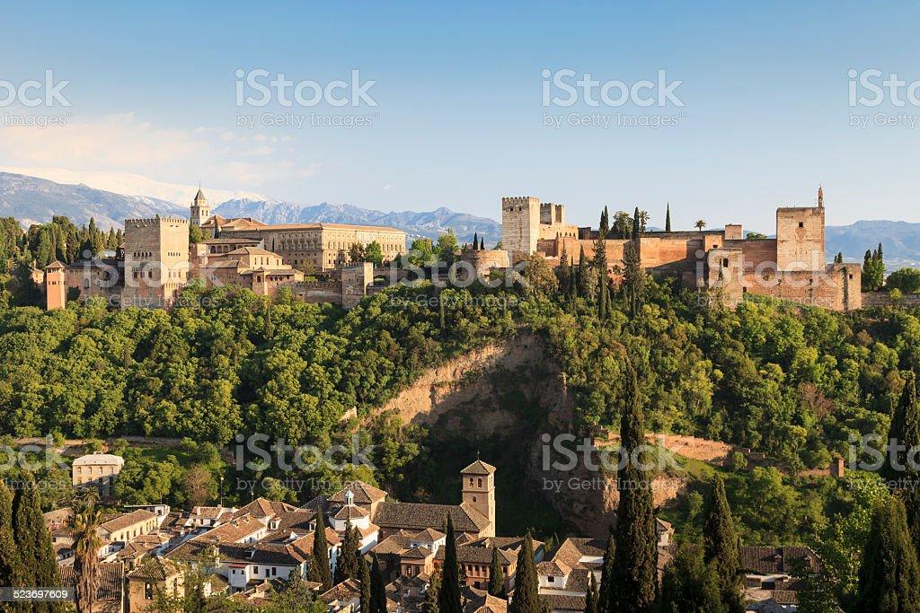 Alhambra in Granada, Spain stock photo