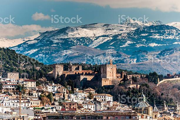Photo of Alhambra in winter