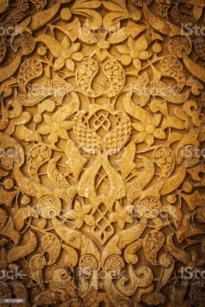 Alhambra moorish wall detail royalty-free stock photo